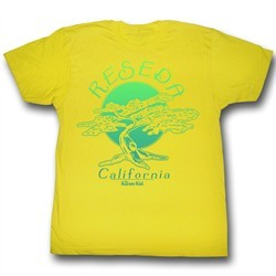 Karate Kid Shirt Bonsai Tree Adult Yellow Tee T-Shirt