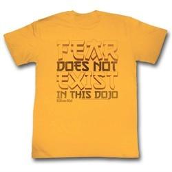 Karate Kid Shirt Fear Does Not Exist Here Gold T-Shirt