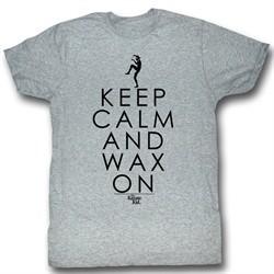 Karate Kid Shirt Keep Calm Adult Grey Tee T-Shirt