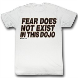 Karate Kid Shirt No Fear Adult White Tee T-Shirt
