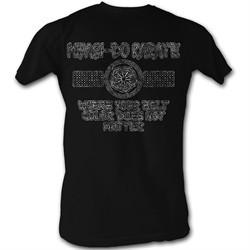 Karate Kid Shirt Worn Myagi-Do Adult Black Tee T-Shirt