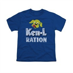 Ken L Ration Shirt Kids Distressed Logo Royal Blue T-Shirt