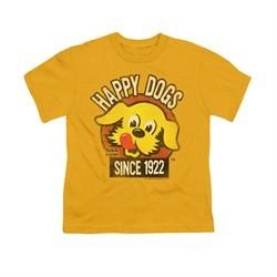 Ken L Ration Shirt Kids Happy Dogs Gold T-Shirt