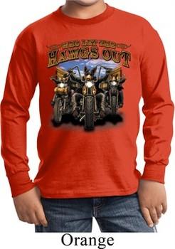Kids Biker Shirt Give Me Candy Long Sleeve Tee T-Shirt