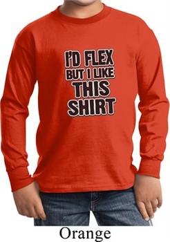 Kids Fitness Shirt Id Flex Long Sleeve Tee T-Shirt