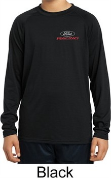 Kids Ford Racing Pocket Print Dry Wicking Long Sleeve Shirt