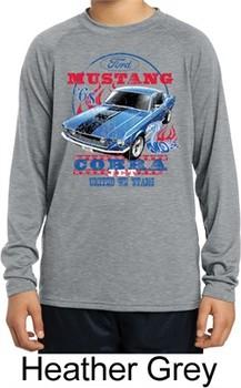 Kids Ford Shirt 1968 Cobra Jet Dry Wicking Long Sleeve Shirt