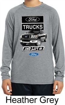 Kids Ford Shirt F-150 Truck Dry Wicking Long Sleeve Shirt