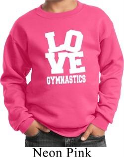 Kids Gymnastics Sweatshirt Love Gymnastics Sweat Shirt