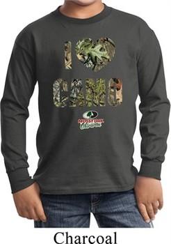 Kids Mossy Oak I Love Camo Long Sleeve Shirt