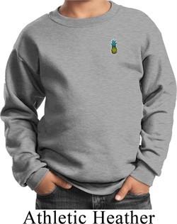 Kids Pineapple Patch Pocket Print Youth Sweatshirt