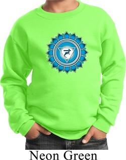 Kids Yoga Sweatshirt Blue Vishuddha Sweat Shirt