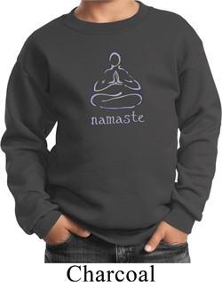 Kids Yoga Sweatshirt Namaste Lotus Pose Sweat Shirt