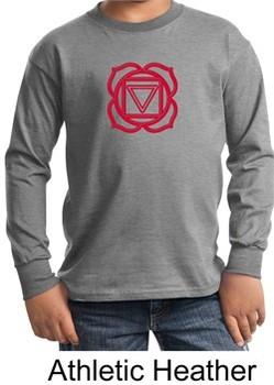 Kids Yoga T-shirt Muladhara Root Chakra Youth Long Sleeve Shirt