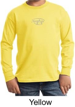Kids Yoga T-shirt Namaste Small Print Youth Long Sleeve Shirt