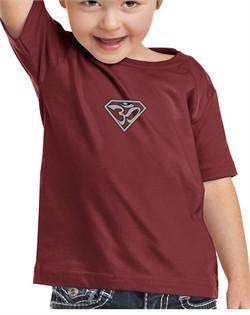 Kids Yoga T-shirt Super OM Small Print Toddler Tee