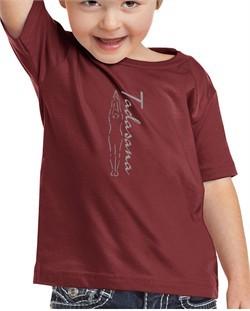 Kids Yoga T-shirt Tadasana Mountain Pose Toddler Shirt