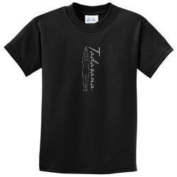 Kids Yoga T-shirt Tadasana Mountain Pose Youth Tee