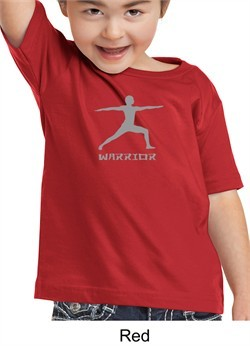 Kids Yoga T-shirt Warrior 2 Pose Meditation Toddler Tee Shirt
