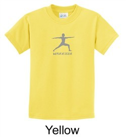 Kids Yoga T-shirt Warrior 2 Pose Meditation Youth Tee Shirt