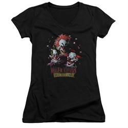 Killer Klowns From Outer Space Juniors V Neck Shirt Killer Klowns Black T-Shirt