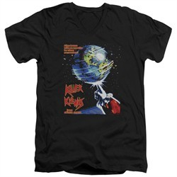 Killer Klowns From Outer Space Slim Fit V-Neck Shirt Invaders Black T-Shirt