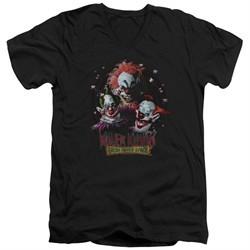 Killer Klowns From Outer Space Slim Fit V-Neck Shirt Killer Klowns Black T-Shirt