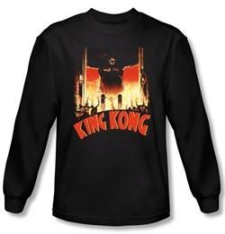 King Kong Long Sleeve T-Shirt Warner Bros Movie At The Gates Shirt