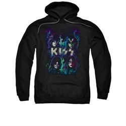 Kiss Hoodie Colorful Fire Black Sweatshirt Hoody