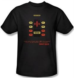 Knight Rider Kids T-shirt Kitt Consol Youth Black Tee Shirt