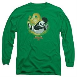 Kung Fu Panda 3 Long Sleeve Shirt Drago Po Kelly Green Tee T-Shirt