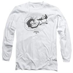 Kung Fu Panda 3 Long Sleeve Shirt Face Off White Tee T-Shirt