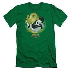 Kung Fu Panda 3 Slim Fit Shirt Drago Po Kelly Green T-Shirt