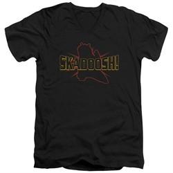 Kung Fu Panda 3 Slim Fit V-Neck Shirt Skadoosh Black T-Shirt