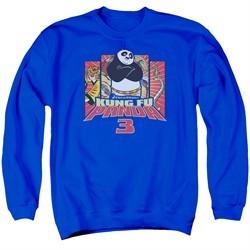 Kung Fu Panda 3 Sweatshirt Kung Furry Adult Royal Blue Sweat Shirt