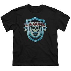 L.A. Guns Kids Shirt Shield Black T-Shirt