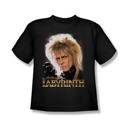 Labyrinth Shirt Kids Jareth Black Youth Tee T-Shirt