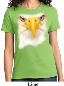 Ladies Bald Eagle Shirt Big Bald Eagle Face Tee T-Shirt