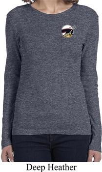 Ladies Dodge Scat Pack Logo Pocket Print Long Sleeve Shirt