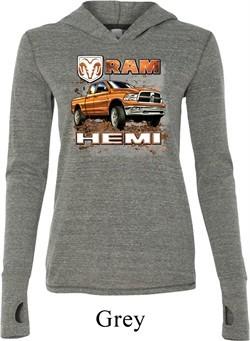 Ladies Dodge Shirt Ram Hemi Trucks Tri Blend Hoodie Tee T-Shirt
