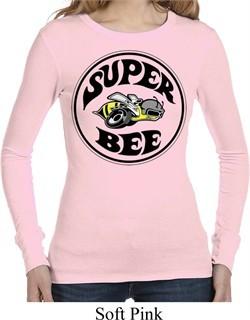 Ladies Dodge Shirt Super Bee Long Sleeve Thermal Tee T-Shirt