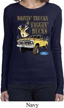 Ladies Ford Shirt Driving and Tagging Bucks Long Sleeve Shirt