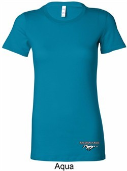 Ladies Ford Tee Mustang Bottom Print Longer Length Shirt