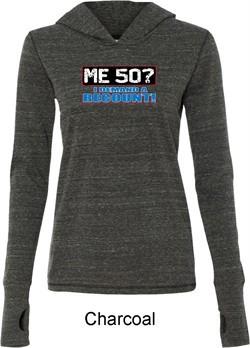 Ladies Funny Birthday Shirt Me 50 Tri Blend Hoodie T-Shirt