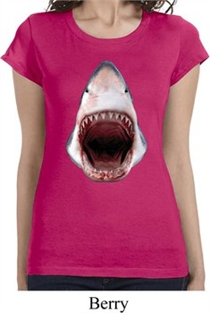 Ladies Shark Shirt 3D Shark Longer Length Tee T-Shirt