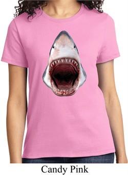 Ladies Shark Shirt 3D Shark Tee T-Shirt