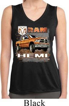 Ladies Shirt Ram Hemi Trucks Sleeveless Moisture Wicking Tee T-Shirt
