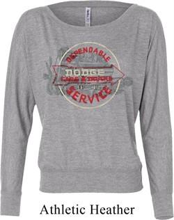 Ladies Shirt Vintage Dodge Sign Off Shoulder Tee T-Shirt