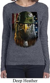Ladies USA Tee American Eagle Long Sleeve Shirt