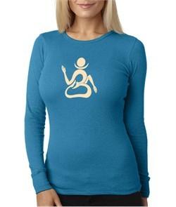 Ladies Yoga Shirt Body OM Long Sleeve Thermal Tee T-Shirt